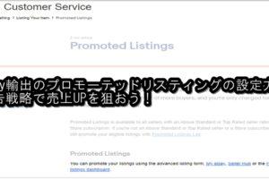 ebay輸出のプロモーテッドリスティングの設定方法!広告戦略で売上UPを狙おう!